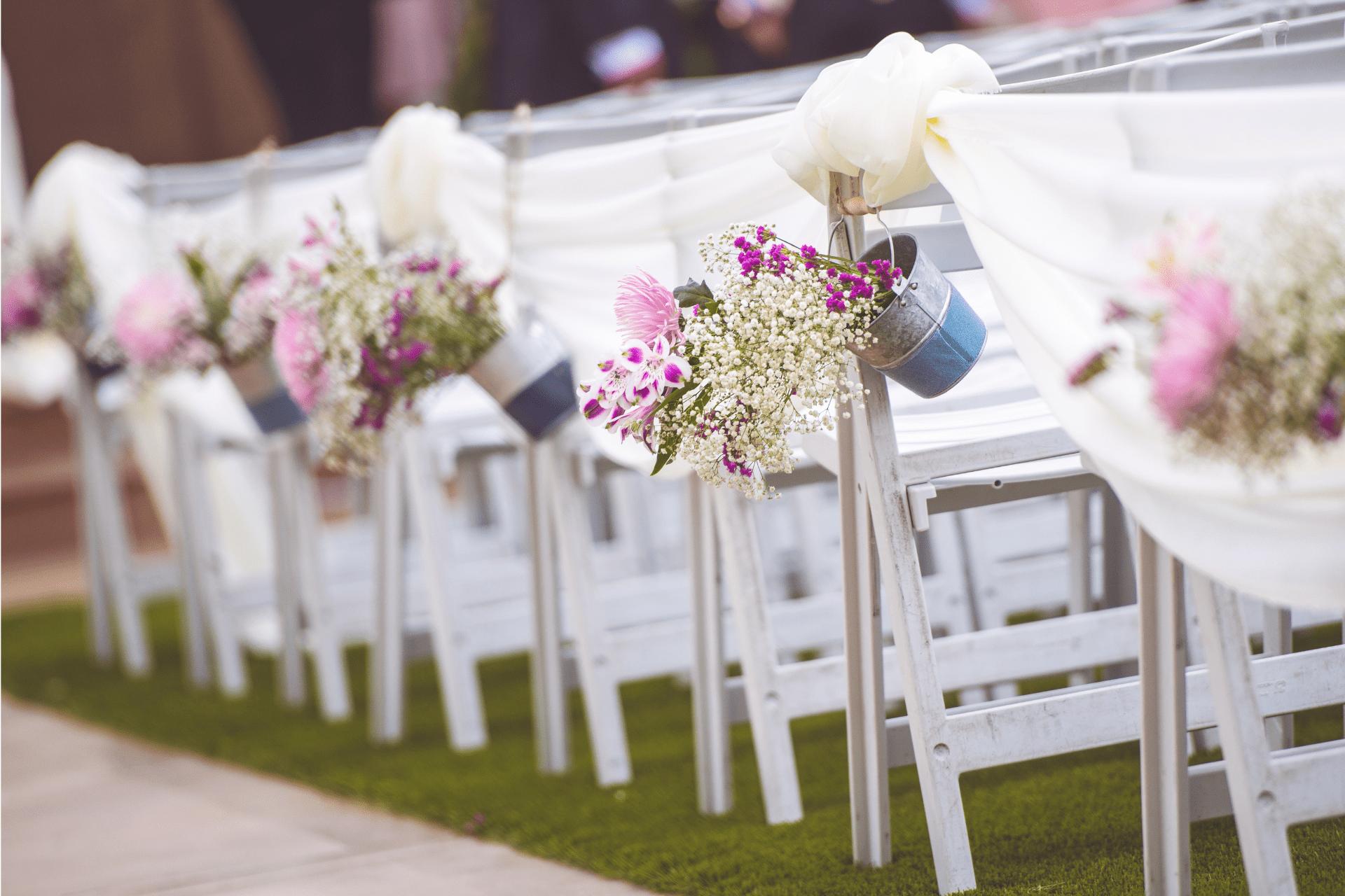 Decoración floral boda