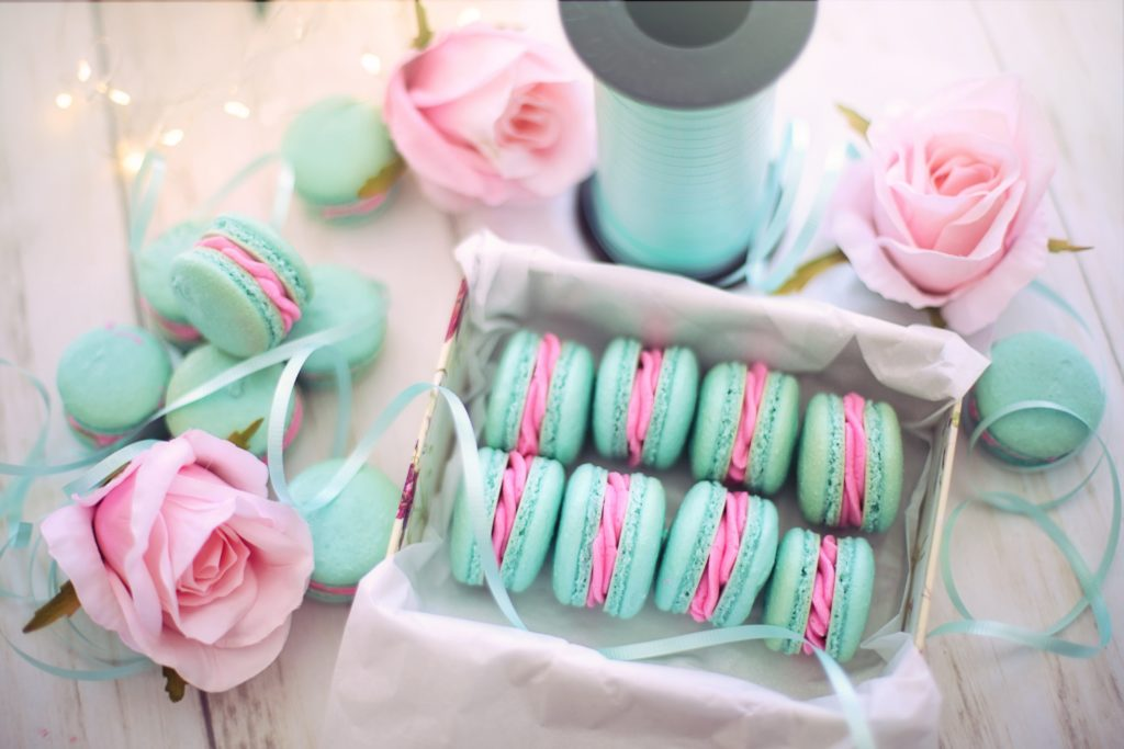 Chic Blue Macaron